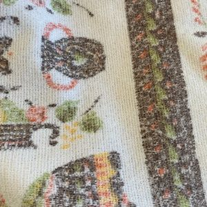 Unbranded Holiday - Vintage 1970/80 Printed Rough French Terrycloth